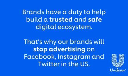 Unilever to boycott advertising on FB